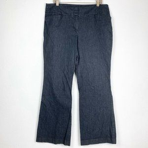 Loft 12 Slacks Bootcut Pants Navy Blue Stretch
